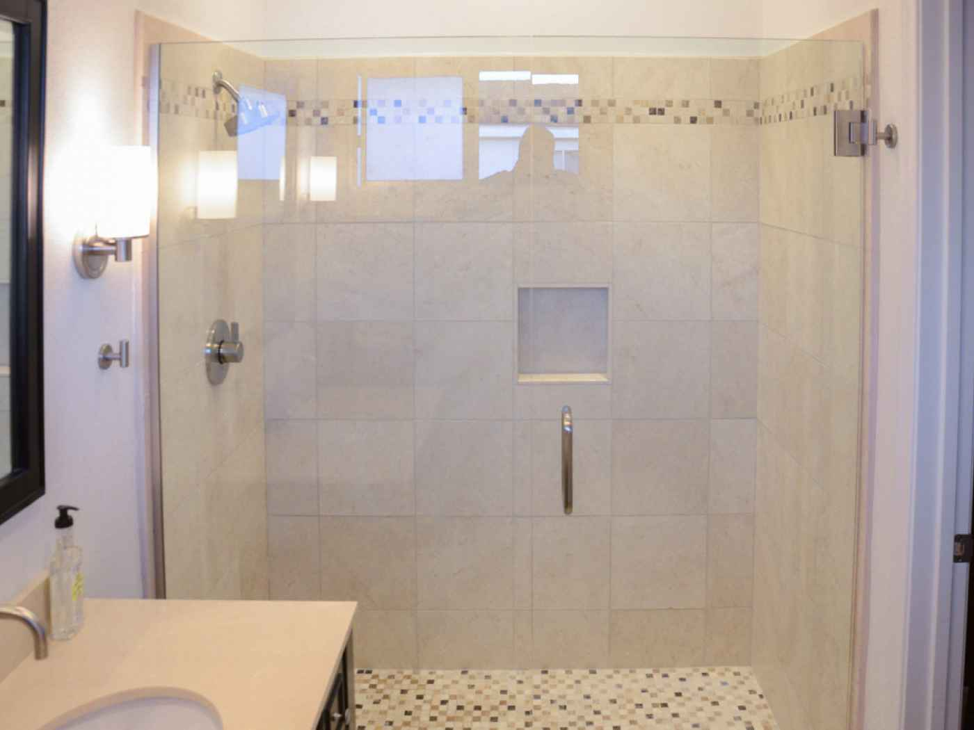 Baril Residence Clairemont California Small Master Bathroom - Small master bathroom